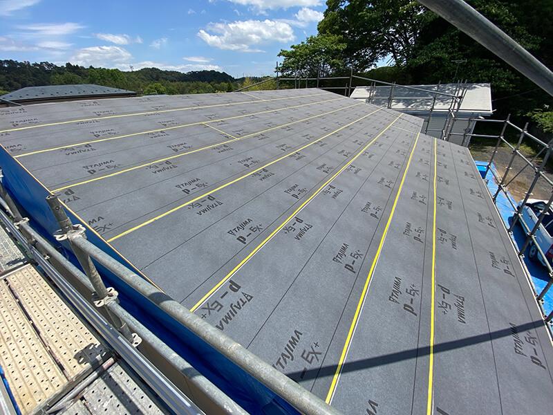 屋根ルーフィング施工